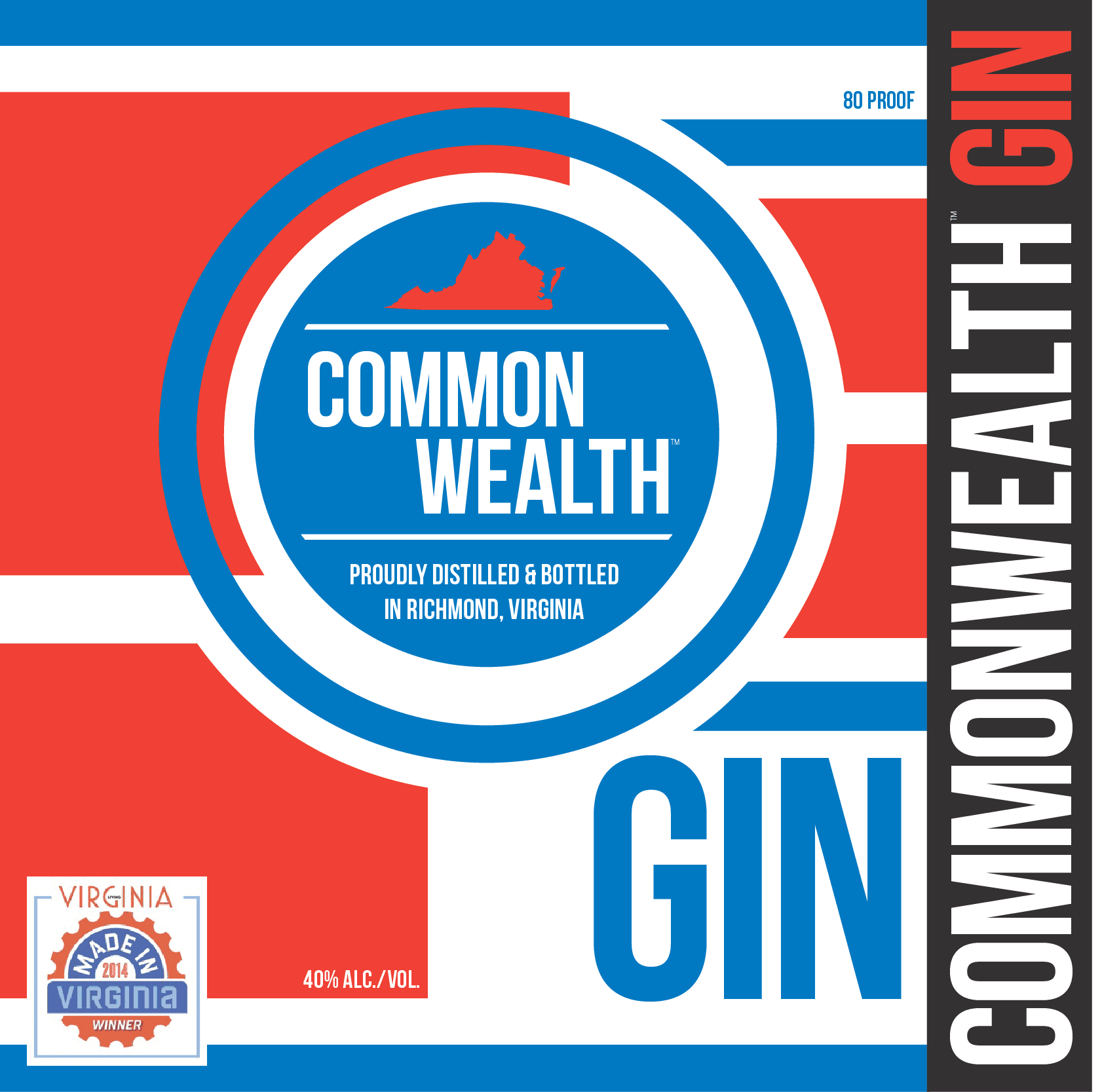 Commonwealth Gin Label